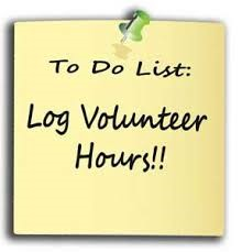 To Do: Log your volunteer hours